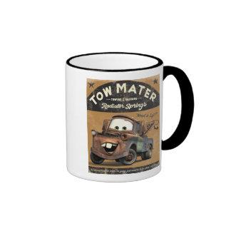 La remolque Mater Disney de los coches Taza De Dos Colores