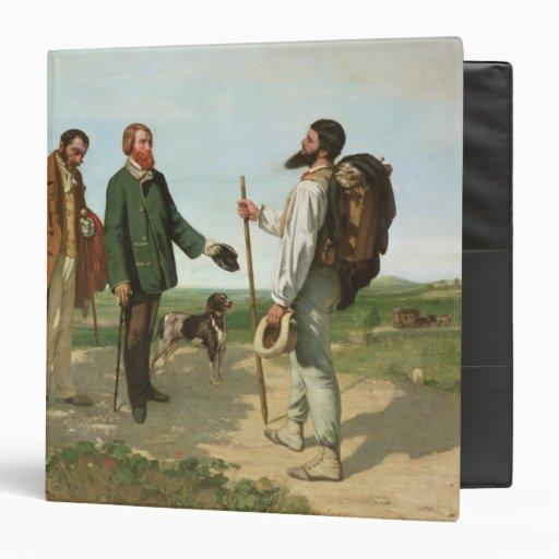La Rencontre, or Bonjour Monsieur Courbet, 1854 Vinyl Binder