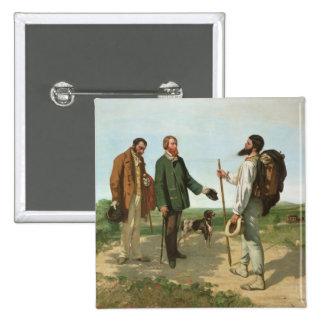 La Rencontre, or Bonjour Monsieur Courbet, 1854 Button