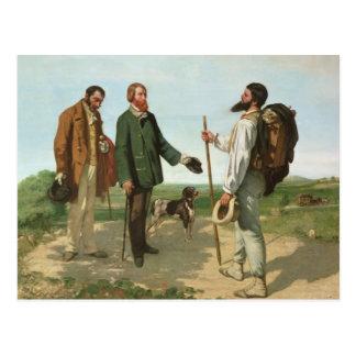 La Rencontre, or Bonjour Monsieur Courbet, 1854 Post Card