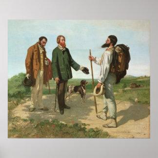 La Rencontre, or Bonjour Monsieur Courbet, 1854 Poster