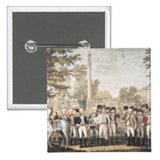 La rendición británica a general Washington Pin Cuadrado