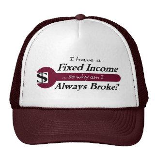 La renta fija/rompió siempre el casquillo - ciruel gorras