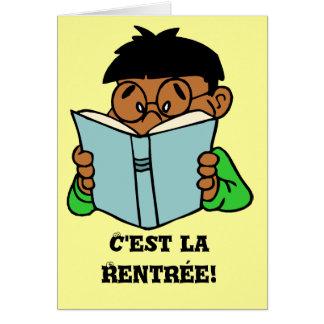 La Rentree, ocasión de C'est de Bonne Tarjeta De Felicitación