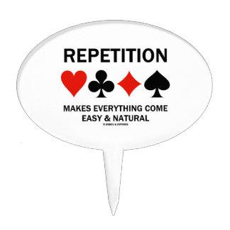 La repetición hace que todo viene los juegos fácil figuras de tarta