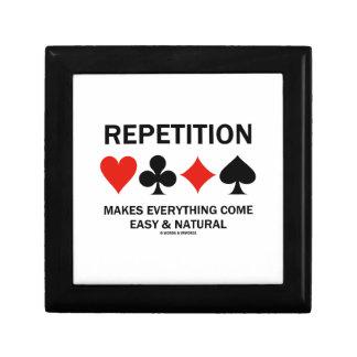 La repetición hace que todo viene los juegos fácil caja de regalo