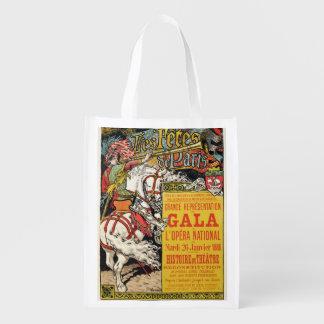 La reproducción de una publicidad de poster 'Fetes Bolsa Reutilizable