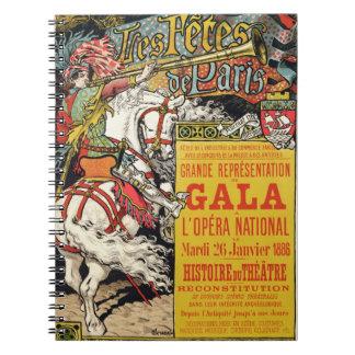 La reproducción de una publicidad de poster 'Fetes Libretas Espirales