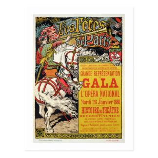 La reproducción de una publicidad de poster 'Fetes Tarjeta Postal