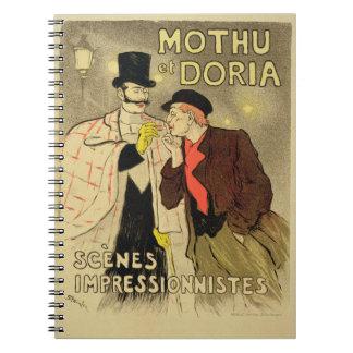 La reproducción de una publicidad de poster 'Mothu Cuaderno