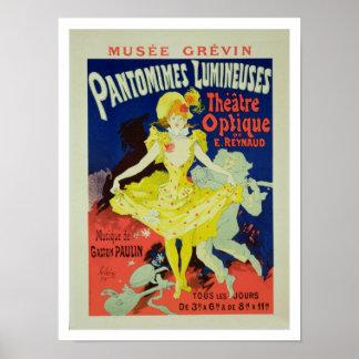 La reproducción de una publicidad de poster Panto