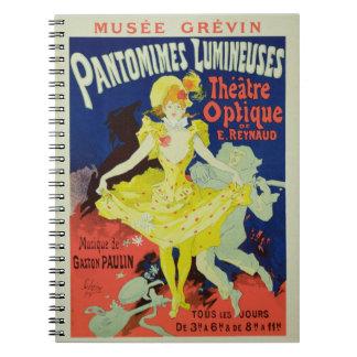 La reproducción de una publicidad de poster 'Panto Notebook