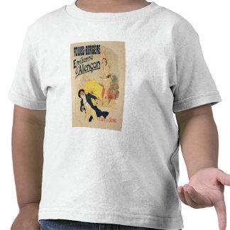 La reproducción de una publicidad de poster camiseta