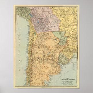 La República Argentina, Chile, Paraguay, Uruguay Póster