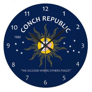 La república auténtica de la concha EVITA Reloj Redondo Grande