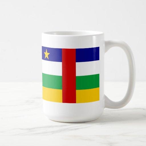 La República Centroafricana Taza Básica Blanca