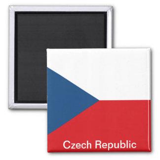 La República Checa de la bandera Imán Cuadrado