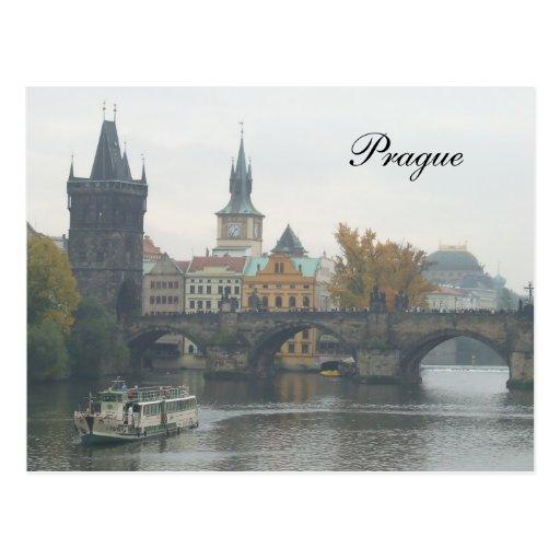 La República Checa de Praga del puente de Charles Tarjetas Postales