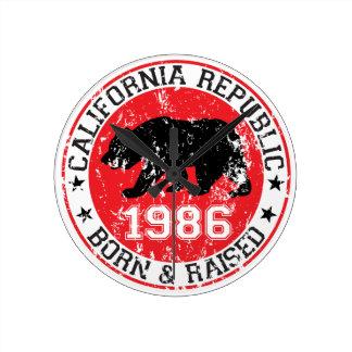 La república de California llevada aumentó 1986 Relojes
