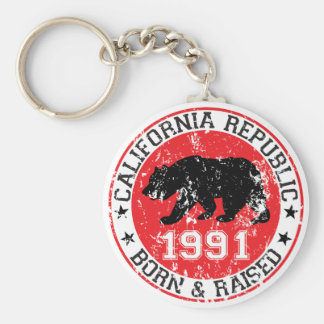 la república de California llevada aumentó 1991 Llavero