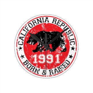 la república de California llevada aumentó 1991 Reloj