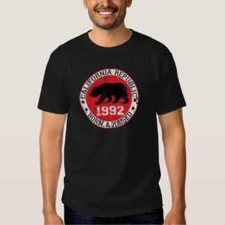 la república de California llevada aumentó 1992 Playera