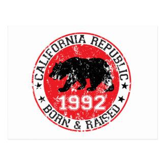 la república de California llevada aumentó 1992 Postal