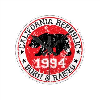 la república de California llevada aumentó 1994 Relojes De Pared