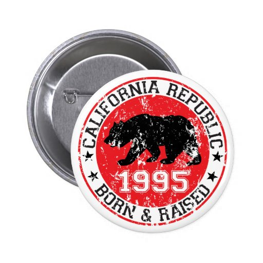 la república de California llevada aumentó 1995 Pin