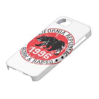 la república de California llevada aumentó 1996 iPhone 5 Case-Mate Fundas
