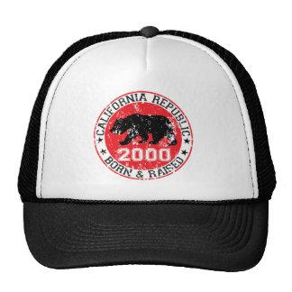 la república de California llevada aumentó 2000 Gorros Bordados