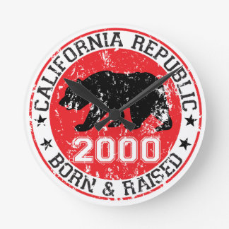 la república de California llevada aumentó 2000 Relojes De Pared