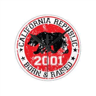 la república de California llevada aumentó 2001 Reloj