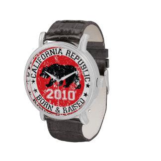 la república de California llevada aumentó 2010 Reloj De Mano