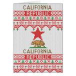 La república de California refiere el suéter feo Felicitaciones