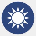 La República de China Roundel Etiqueta Redonda