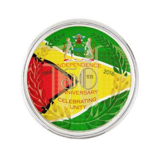 La República de Guyana, 50.a independencia feliz Pin