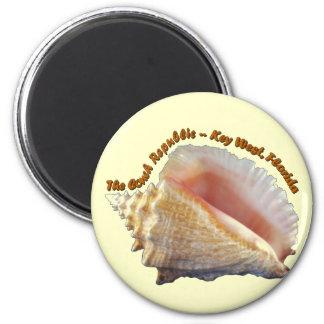 La república de la concha imán redondo 5 cm