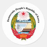La República Popular Democrática de Corea 1 Pegatina Redonda