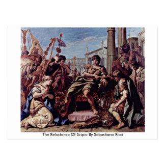 La repugnancia de Scipio de Sebastiano Ricci Tarjetas Postales