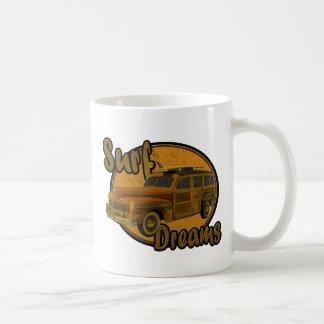 la resaca soña marrón del carro del woodie taza