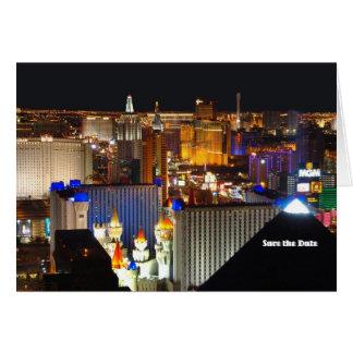 ¡La reserva de Las Vegas la tarjeta de fecha, añad