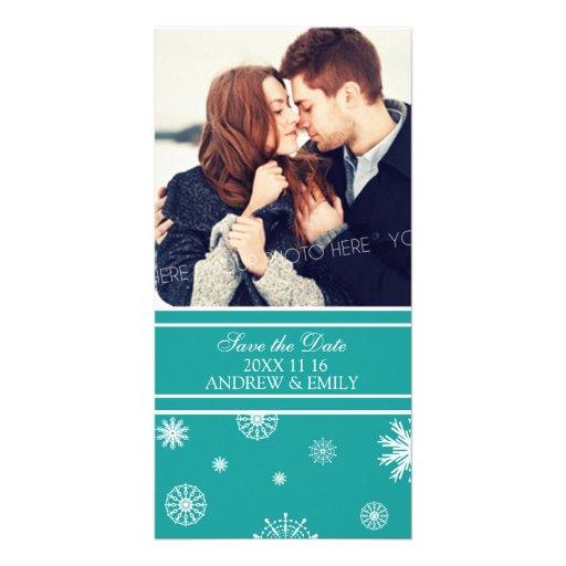 La reserva del invierno la foto del boda de la fec tarjeta fotográfica