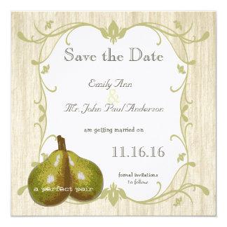"""La reserva perfecta de la pera la fecha invitación 5.25"""" x 5.25"""""""