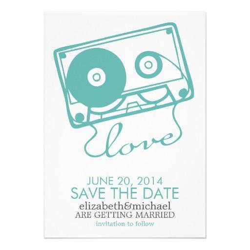 La reserva perfecta del boda de la mezcla la fecha invitación personalizada