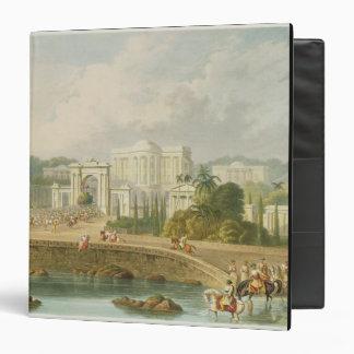 """La residencia británica en Hyderabad en 1813, de V Carpeta 1 1/2"""""""