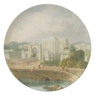 La residencia británica en Hyderabad en 1813, de V Platos