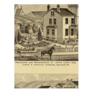 La residencia y el invernadero de Juan prestaron Tarjetas Postales