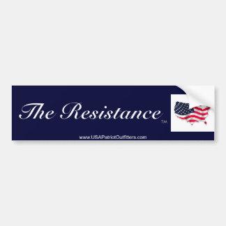 La resistencia es América Etiqueta De Parachoque