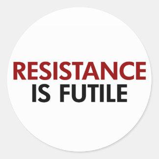 La resistencia es pegatinas vanos